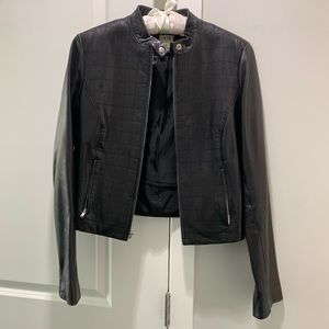 Cache Black Leather Jacket
